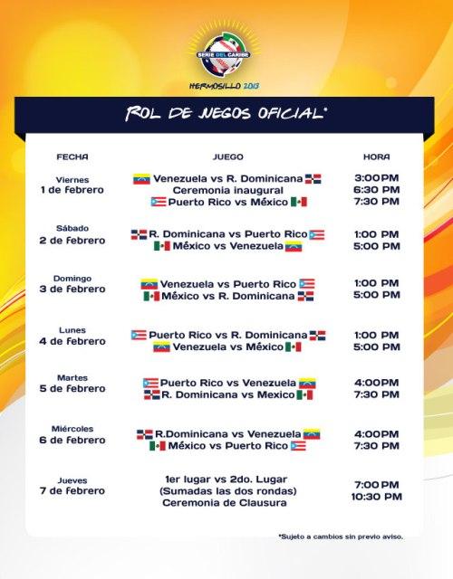 Calendario de Juegos SC 2013