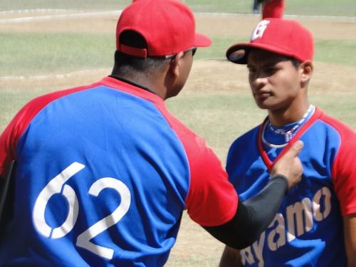 Ciro Silvino Licea y Jorge Torres Aguilar, equipo de béisbol de Bayamo