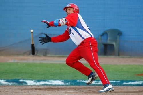 Eriel Sánchez, receptor equipo Cuba de béisbol