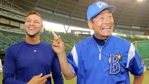 Yulieski Gourriel y Kiyoshi Nakahata