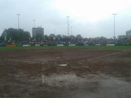El partido fue detenido tres veces por la lluvia / FOTO tomada de la página de Facebook