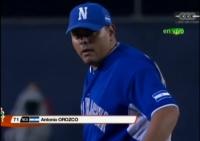 Entra a lanzar Antonio Orozco por Nicaragua