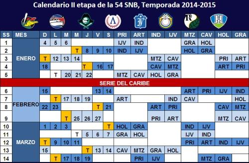 Calendario 54SNB