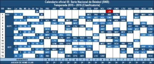 Calendario 55 Serie Nacional de Béisbol copia