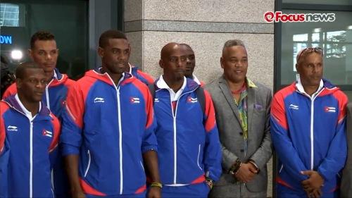 Arribo del equipo Cuba de Béisbol a Korea 4