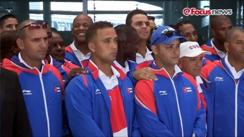 Arribo del equipo Cuba de Béisbol a Korea 5