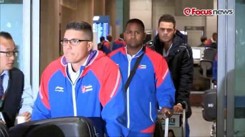 Arribo del equipo Cuba de Béisbol a Korea