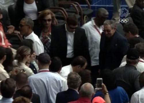 Raúl y Barack Obama