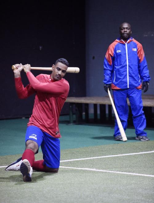 Entrenamiento del equipo Cuba 8