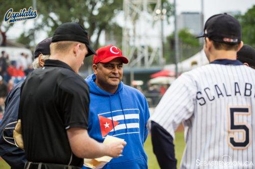 Roger Machado, manager del equipo Cuba